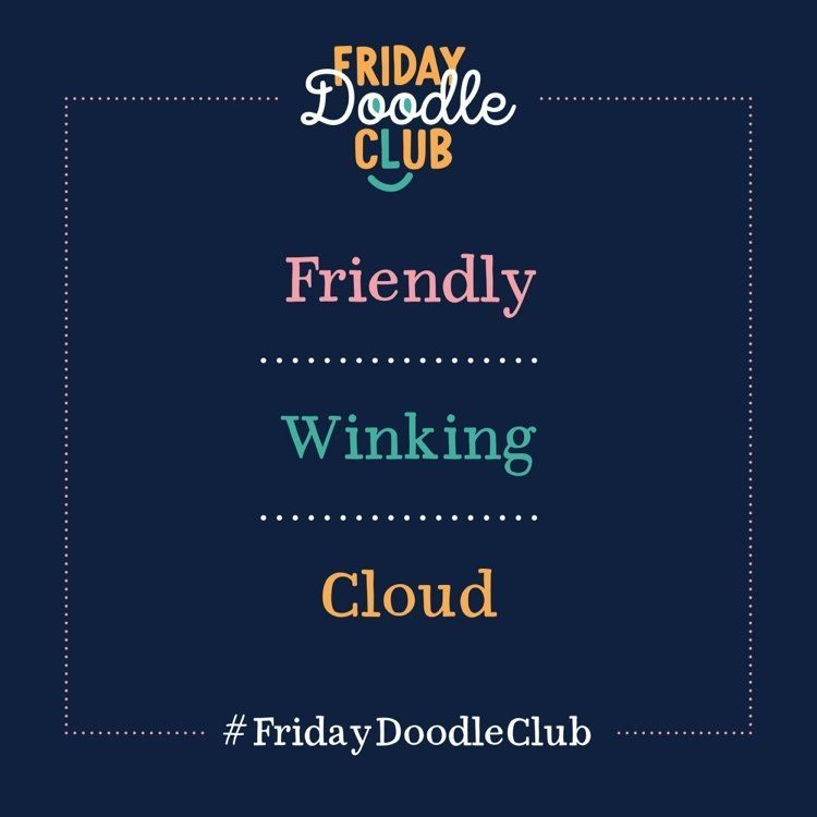 FDC prompt - winking cloud blue