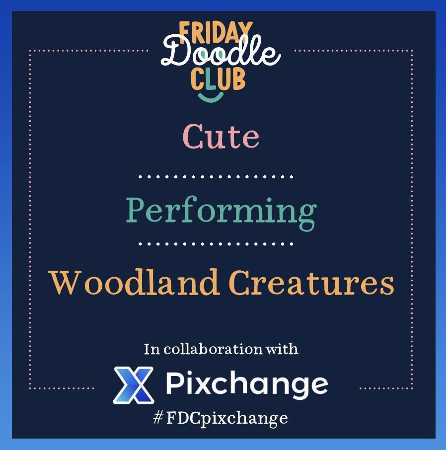 FDC_Pixchange-prompt_woodlandcreatures2